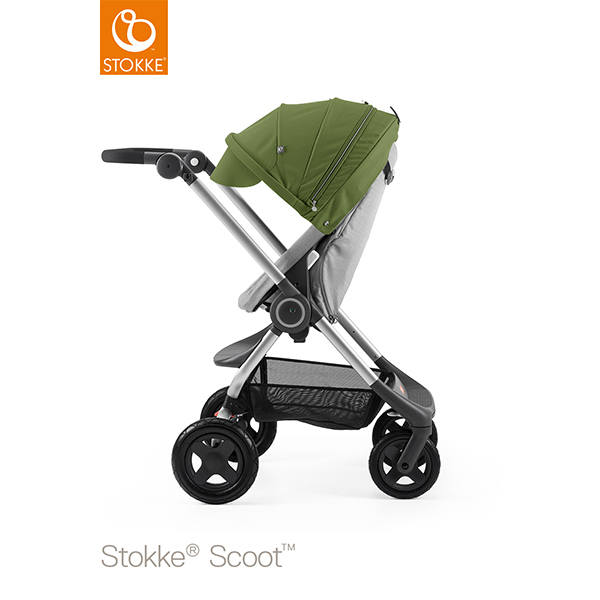【STOKKEストッケ正規販売店】Stokke Scoot2ストッケ 新スクート2セットベーシックキット(グレーメラーンジ) キャノピー(グリーン)