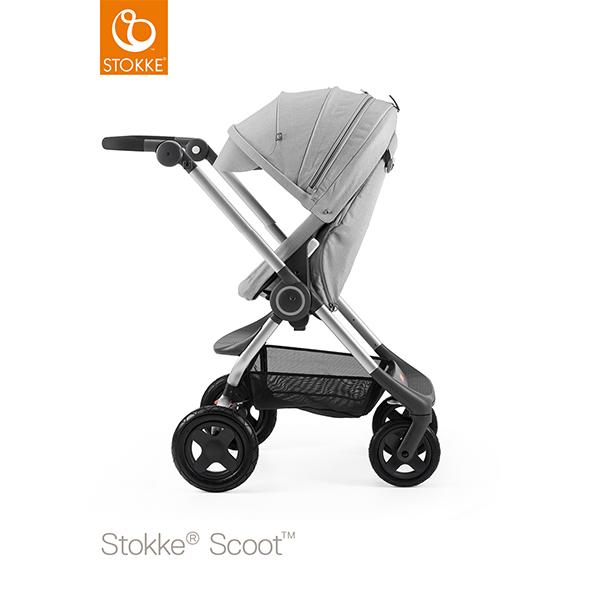 【STOKKEストッケ正規販売店】Stokke Scoot2ストッケ 新スクート2セットベーシックキット(グレーメラーンジ) キャノピー(グレーメラーンジ)