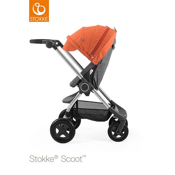 【STOKKEストッケ正規販売店】Stokke Scoot2ストッケ 新スクート2セットベーシックキット(ブラックメラーンジ) キャノピー(オレンジ)