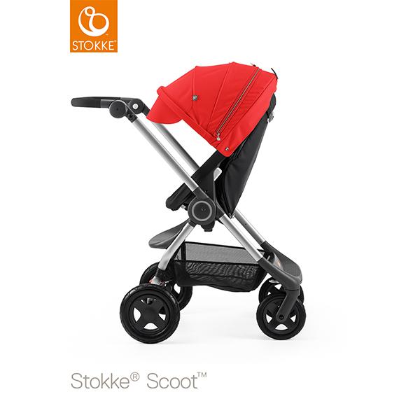 【STOKKEストッケ正規販売店】Stokke Scoot2ストッケ 新スクート2セットベーシックキット(ブラック) キャノピー(レッド)