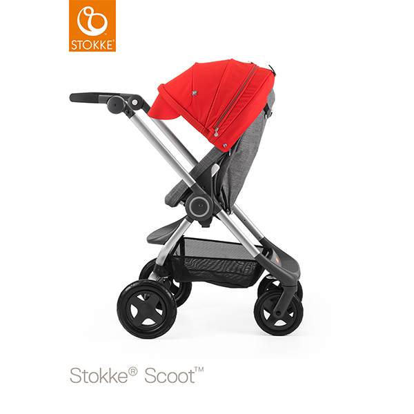 【STOKKEストッケ正規販売店】Stokke Scoot2ストッケ 新スクート2セットベーシックキット(ブラックメラーンジ) キャノピー(レッド)