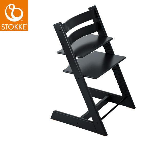 【STOKKEストッケ正規販売店】ストッケトリップトラップチェアTripp Trapp Chair(ブラック)【登録で7年延長保証】