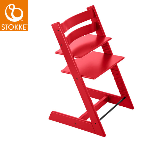 【STOKKEストッケ正規販売店】ストッケトリップトラップチェアTripp Trapp Chair(レッド)【登録で7年延長保証】