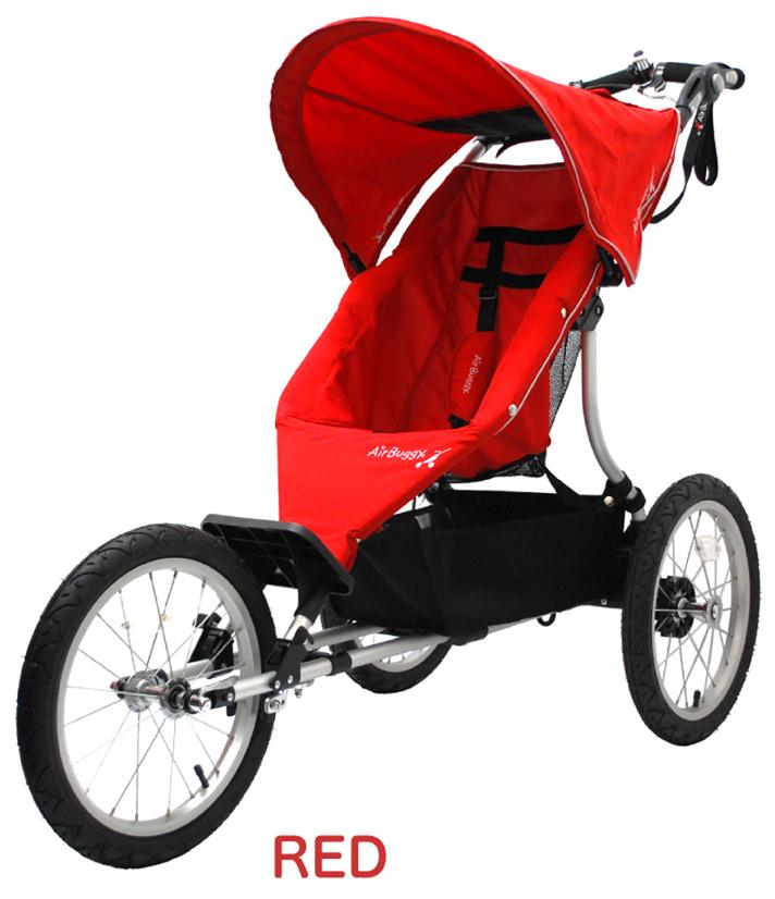 【エアバギー・GMP正規販売店】AirBuggy RUN エアバギーラン (aribuggy run エアバギーRUN) 【3輪ベビーカー/ジョギングベビーカー】(レッド) 【受注生産品】