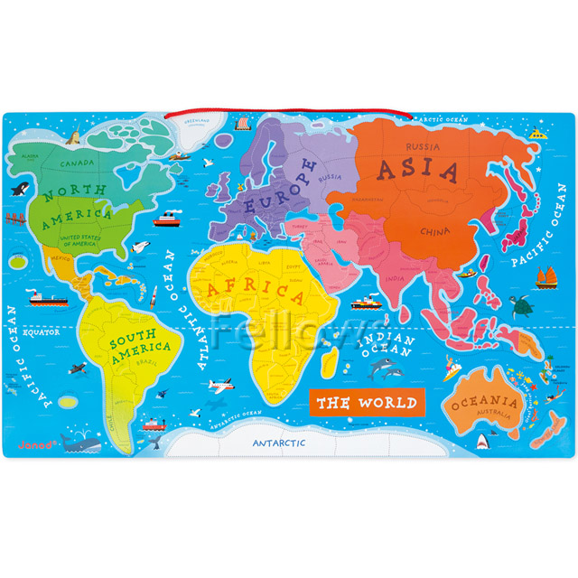 Fellows rakuten global market france wooden toys janod france wooden toys janod magnet puzzle world map 92 pieces boy 3 years old her 3 year old 4 year old man woman 10p13oct13b gumiabroncs Choice Image