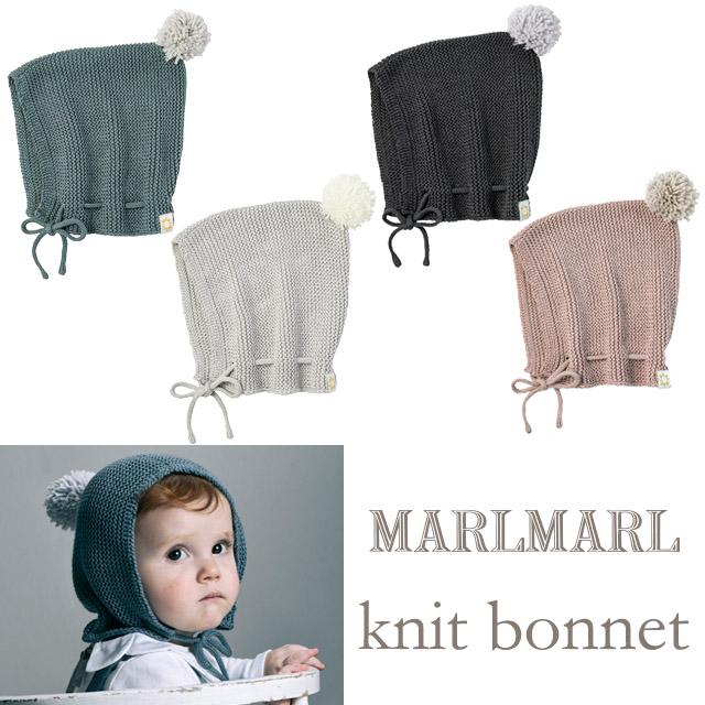 ご出産祝い お誕生日プレゼント ギフト ボンネット 帽子 秋冬 3ヶ月~2歳  【正規販売店】MARLMARL マールマール ニットボンネット 帽子 bonnet 3ヶ月~2歳