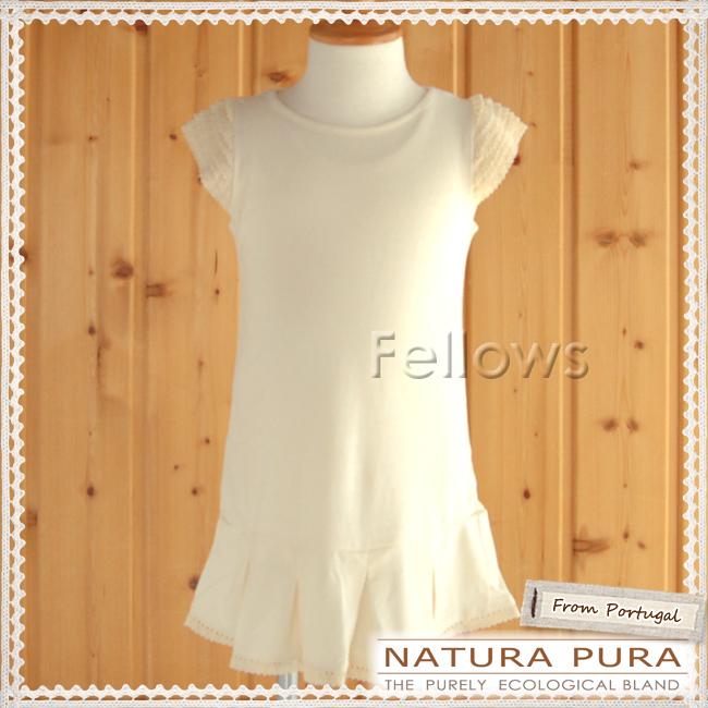 NATURAPURA ナチュラプラ プリーツスカートのロンパーワンピース サイズ:6ヶ月・12ヶ月 オーガニックコットン100%