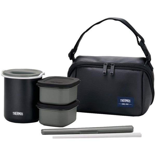 弁当箱 お弁当 保温 メンズ おしゃれ 実物 サーモス MTBK 約0.8合 売り込み マットブラック DBQ-362 保温弁当箱