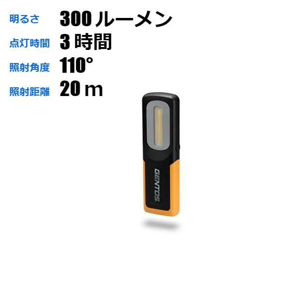 【 送料無料 ライン 】充電式 LED作業灯 防爆 ワークライト 300ルーメン GZ-BA30
