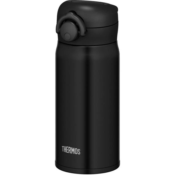 新作製品、世界最高品質人気! 水筒 ボトル 350ml 軽量 低廉 ステンレス 直飲み おしゃれ サーモス 真空断熱ケータイマグ MTBK JNR-351 マットブラック ワンタッチオープンタイプ ワンタッチ