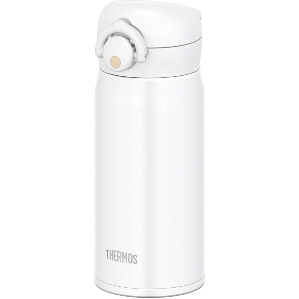 水筒 ボトル 350ml ふるさと割 軽量 ステンレス 直飲み おしゃれ ワンタッチオープンタイプ メーカー公式ショップ ワンタッチ MTWH JNR-351 真空断熱ケータイマグ サーモス マットホワイト