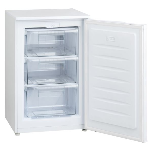 送料無料 開梱設置付 冷凍庫 家庭用 前開き 冷凍ストッカー 小型 91L スリム