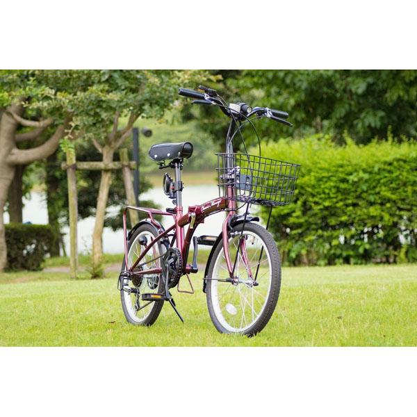 Classic Mimugo FDB206S-OP / クラシックミムゴ 20インチ折畳自転車6段ギア ロック・ライト付