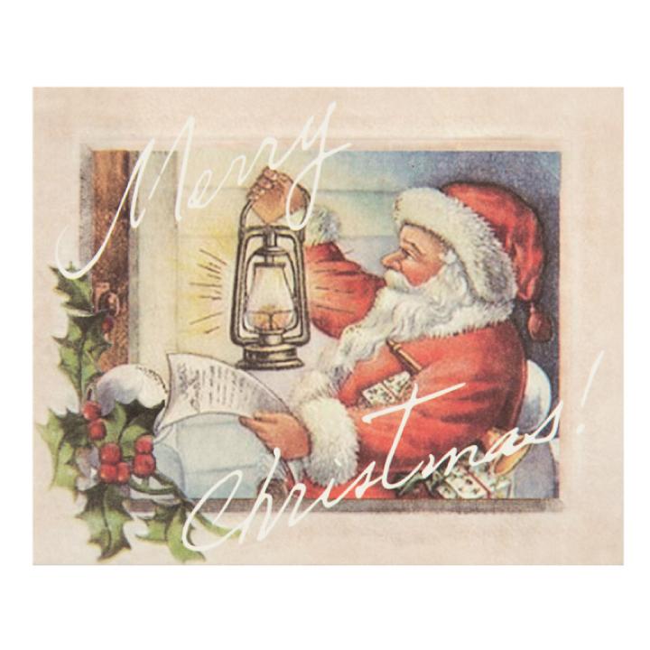 引出物 裏面には日本語でメッセージ プレゼントに添えて贈れば喜ばれること間違いなし アンティークサンタカード カード サンタ 送料無料 日本語 サンタさんからの手紙