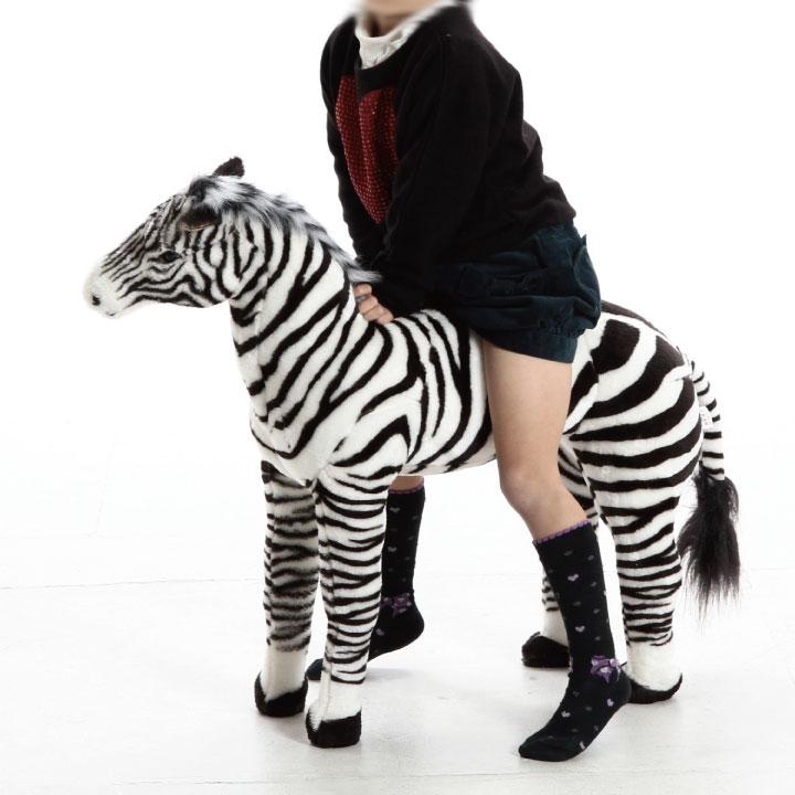 \クーポン発行中/乗れるアニマル シマウマ6614-32 頑丈 乗れる いす ぬいぐるみ かわいい 種類豊富 カラフル 子供 大人 ふわふわ 動物 赤ちゃん ペット シンプル 不二貿易