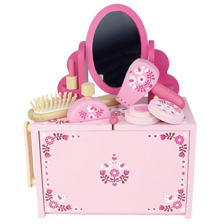 おもちゃ おままごと ドレッサーセット かわいい おしゃれ ピンク お祝い 贈り物 プレゼント xmp おままごとセット トライブ お化粧 竹製 収納付き ギフト 格安激安 グッズ 高級 女の子 ※ラッピング ※