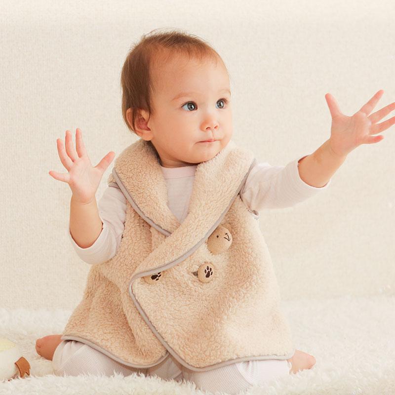 ネコポス対応 体温調節が苦手なベビーのための くまさんあったかルームベスト 出産祝い 防寒 大人気! 防寒着 ルームウェア ベスト 0歳 平日10時までの注文は当日出荷 赤ちゃん お洒落