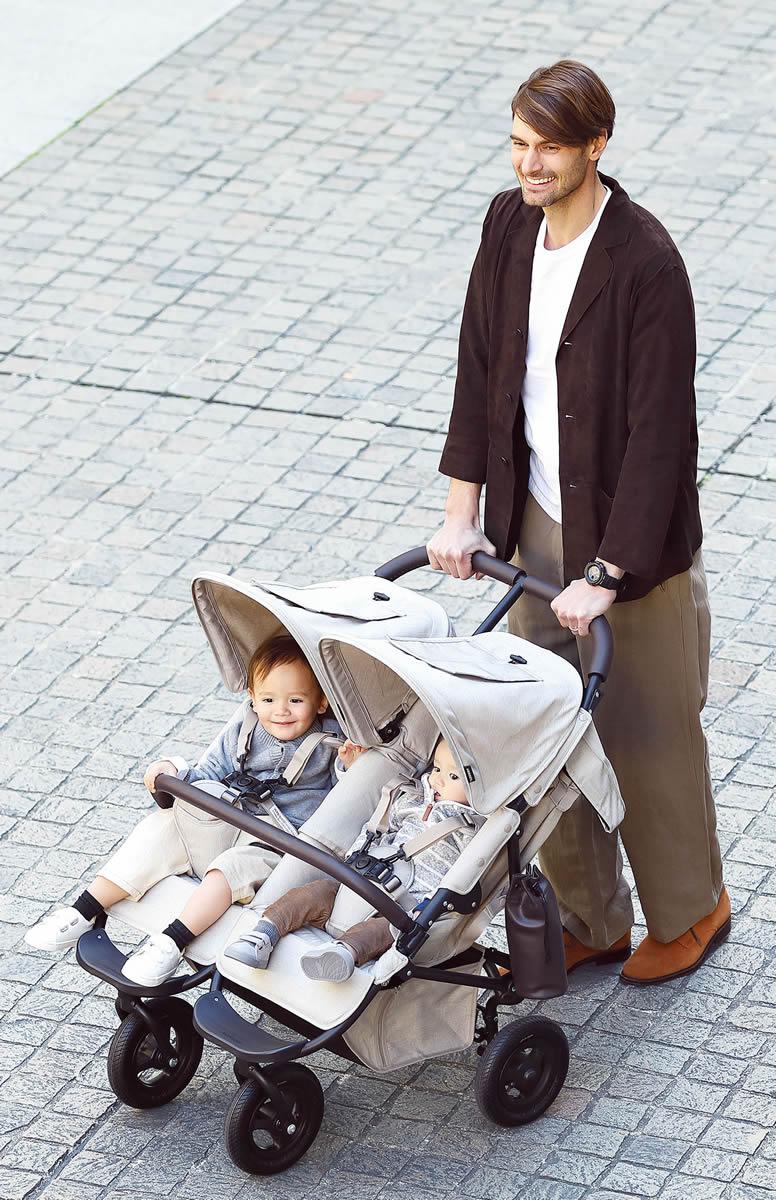 【正規販売店】エアバギー ココダブル フロムバース AirBuggy COCO DOUBLE FROMBIRTH 【新生児 二人乗り ツインズ 双子 ベビー 赤ちゃん 子供 ベビーカー 双子用ベビーカー バギー ストローラー おでかけ 高機能 2018 送料無料】