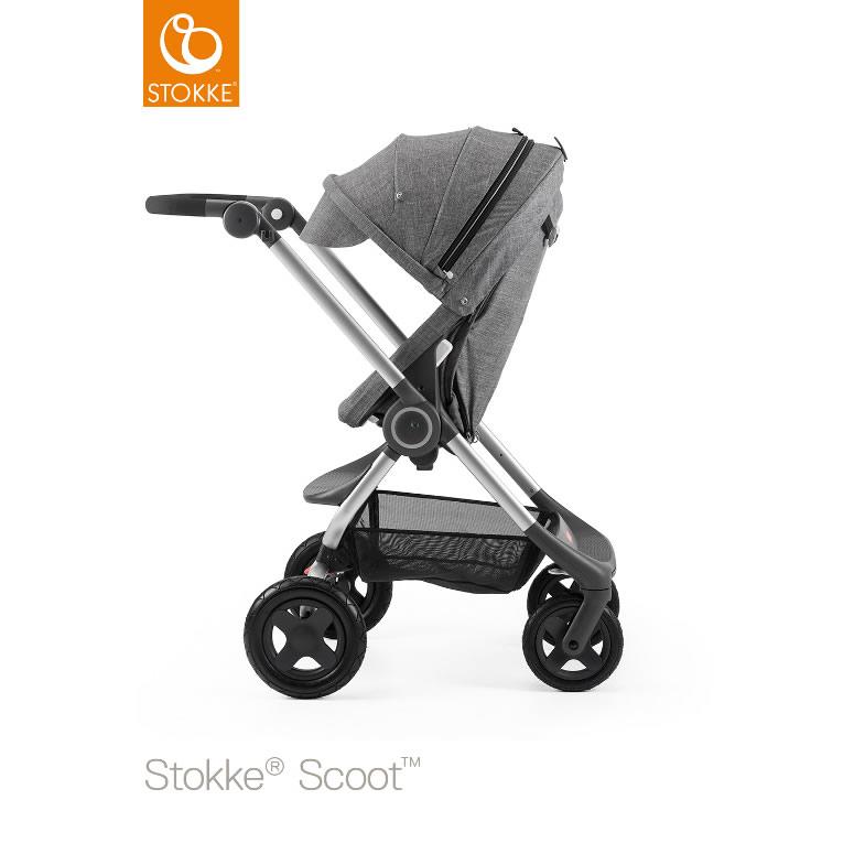 【送料無料】【ストッケ正規販売店】【ベビーカー】【1ヶ月~3歳対象】Stokke® Scoot™ (ストッケ スクート2)ブラックメラーンジ/グレーメラーンジ(シートベース/キャノピー) *Stokke® (ストッケ)*