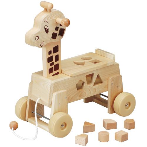 乗用キリン 乗用玩具 子供用乗り物 乗用玩具 押し車 木製 おもちゃ 足けり乗用 おもちゃ 子供用乗り物 ブロック・パズル 知育玩具【平和工業】, エーアンドエー:1346bb8b --- ww.thecollagist.com