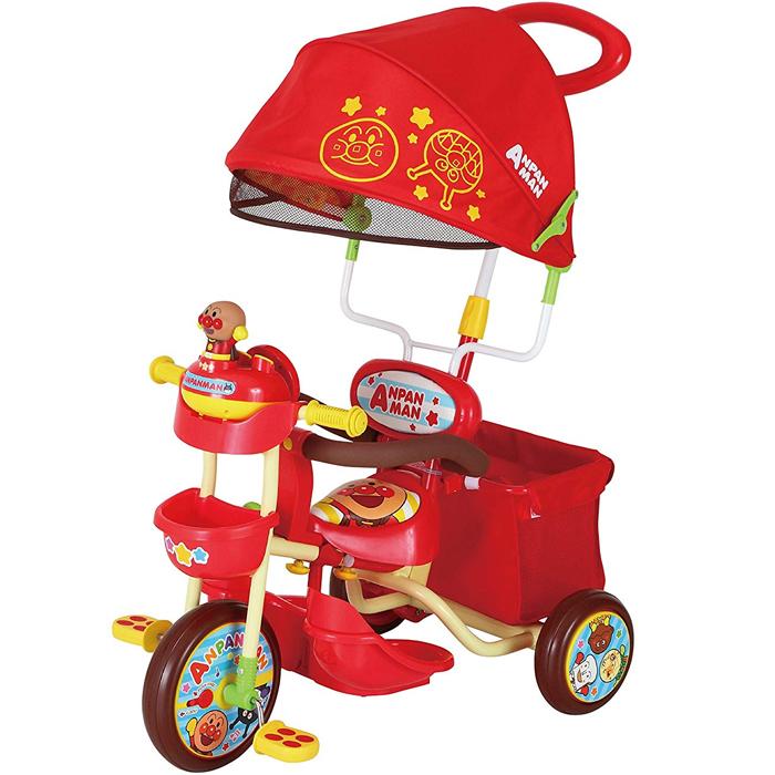それいけ!アンパンマンデラックス2 レッド 子供用三輪車 かじとり 足のせステップ 子供用三輪車【エムアンドエム】