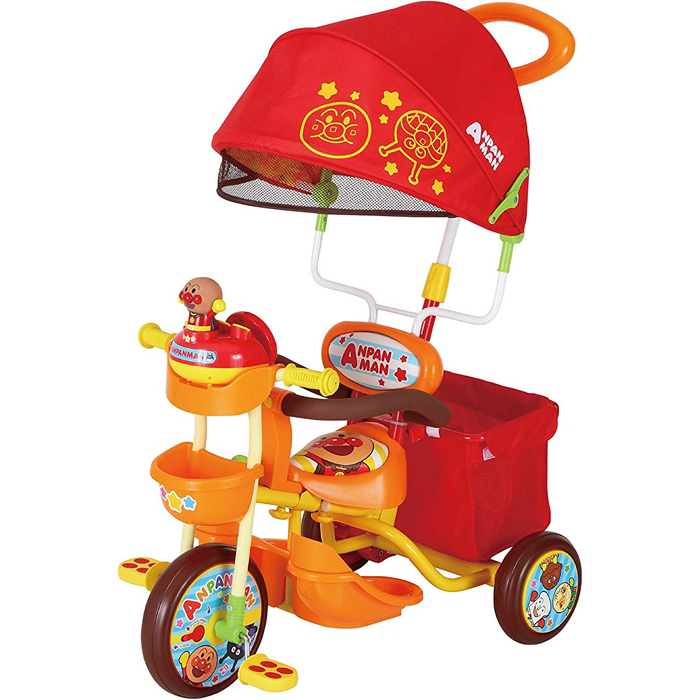 それいけ!アンパンマンデラックス2 オレンジ 子供用三輪車 かじとり 足のせステップ 子供用三輪車【エムアンドエム】