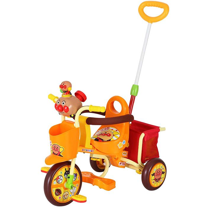 わくわくアンパンマンごうピース2 オレンジ 子供用三輪車 かじとり 足のせステップ ギミックトイ【エムアンドエム】