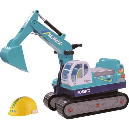 手元のレバーでアームが動く 乗用コベルコシャベル 舗 足けり乗用玩具 子供用 乗り物 働く車 特価キャンペーン トイコー