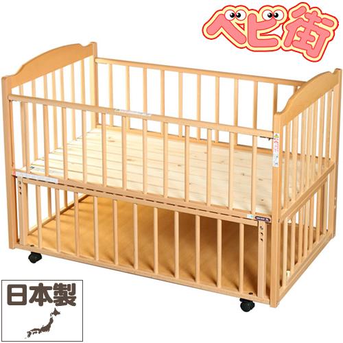 サワベビー D型ジョルノ[ナチュラル]/ 澤田工業 ベビーベッド ベビーベット 多機能ベッド 変形ベッド 送料無料 代引無料