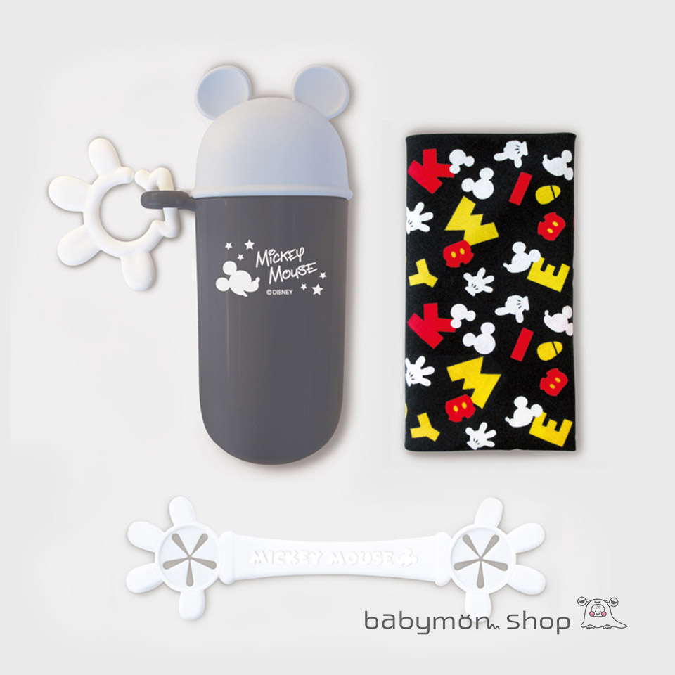 Disney ディズニー ミッキーマウス ミニーマウス 日本正規品 新作 人気 ビブクリップ ハンカチセット 日本製 ライトグレー よだれかけ ベビービブ ベビー バンダナビブ キッズ 持ち運び おでかけ お食事エプロン 離乳食 男の子 ベビー用品 スタイ