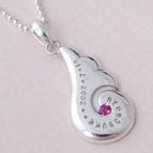ベビーリング 刻印 出産祝い 誕生石 天使の羽ネックレス 名入れできるネックレス