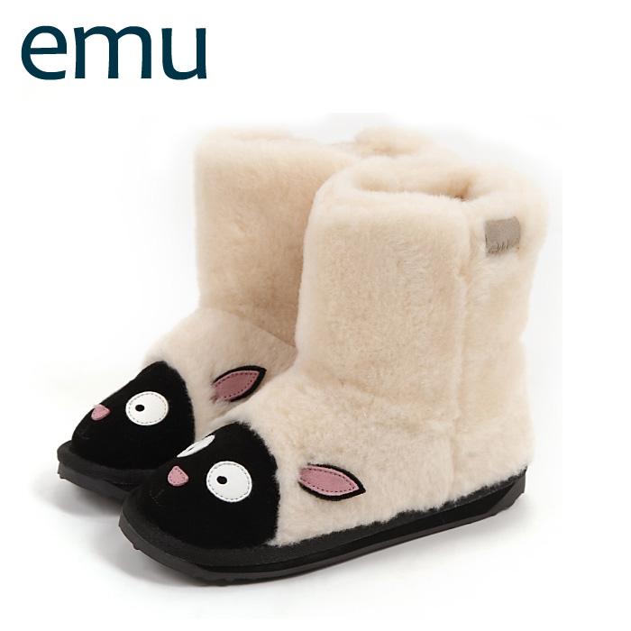 EMU ブーツ エミュ キッズブーツ シープスキン ブーツ LITTLE CREATURE LAMB NATURAL/ナチュラル 送料無料【ベビーキッズ】【k10648】