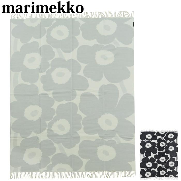 【全品15%オフクーポン】 Marimekko マリメッコ ブランケット Marimekko 毛布 Unikko Blanket ウニッコ 毛布 ウール 花柄