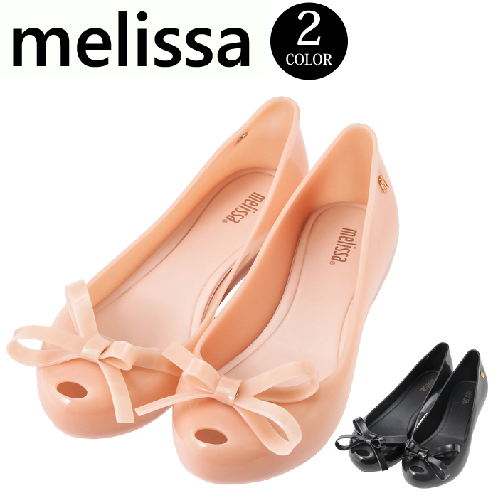 788f9a530 The BabyStore  Melissa ultra girl bow tie Melissa ULTRAGIRL BOW II shoes  rubber shoes sandals flat ぺたんこ ribbon Melissa pumps Lady s