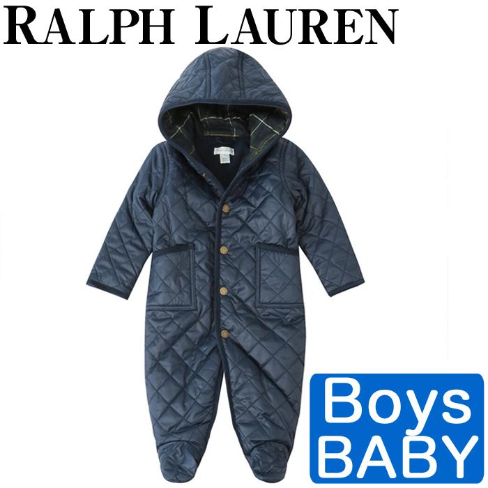 【全品15%オフクーポン】 Polo Ralph Lauren ラルフローレン ロンパース コート フリース ジャケット ベビー 男の子 Fleece-Lined Bunting