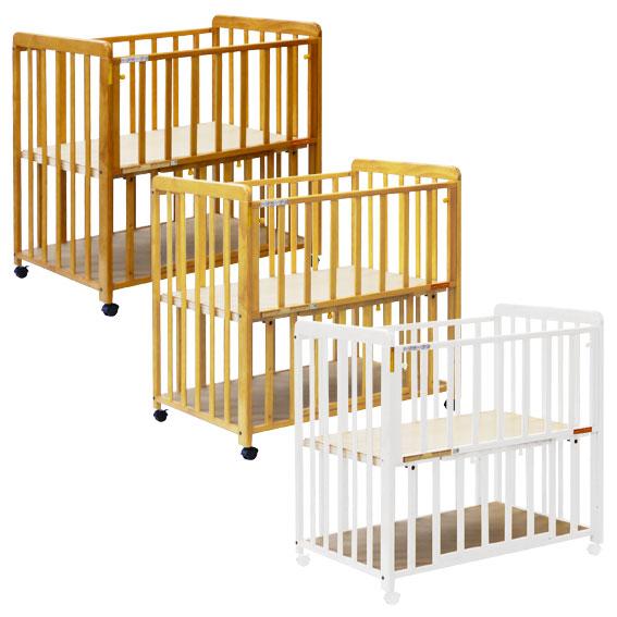 ヤトミ ミニベビーベッド ミミ 棚板付き ベビーベッド ベビーベット ミニベッド 赤ちゃん ねんね 小さいサイズ