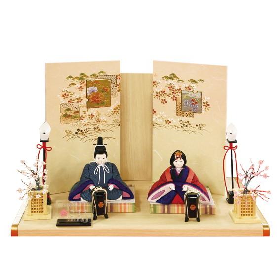 雛人形 こまち 木目込み 親王飾り 二人飾り