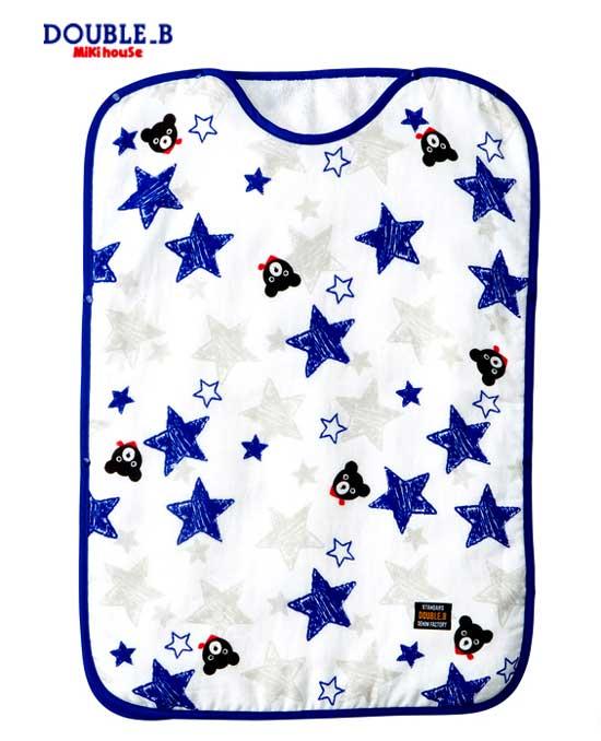 【ミキハウス】DOUBLE_B タオルスリーパー【66-8017-824】紺 星&くま