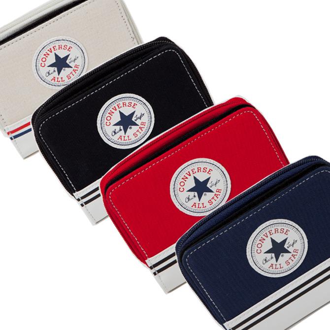 b62a3b2a4384 コンバース財布converseオールスターカジュアルラウンドファスナー二つ折り財布メンズレディース17913200