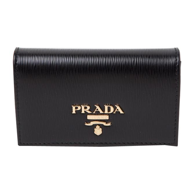 プラダ PRADA カードケース 型押しレザー VITELLO MOVE 二つ折り 名刺入れ 1mc122 2b6p f0002