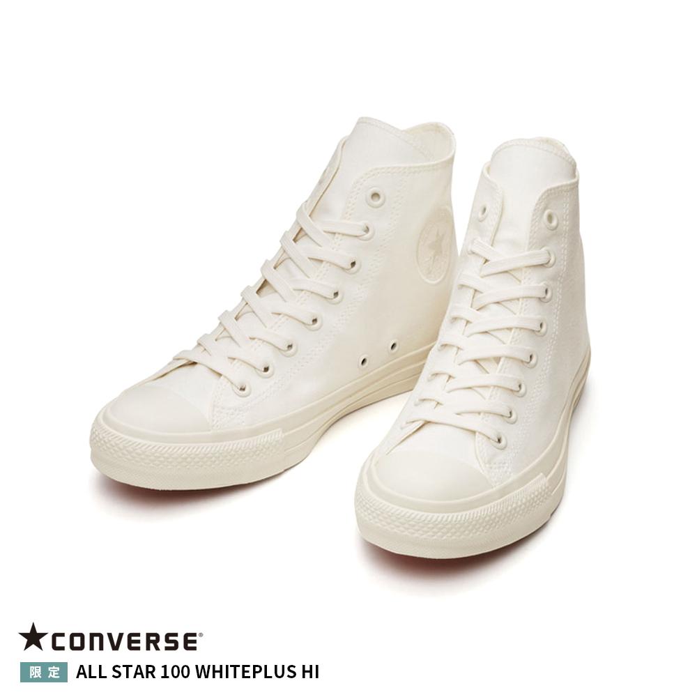 メンズ 特別セール品 レディース コンバース 22.5cm~28cm オールスター ホワイトプラス ハイカット キャンバス カジュアル CONVERSE ALL 半額 HI 100 靴 シューズ STAR HI 100 WHITEPLUS ブランド 正規品