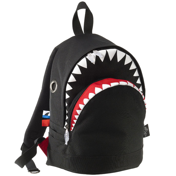 リュック MORN CREATIONS シャーク バックパック Mサイズ モーンクリエイションズ サメ リュックサック ブラック