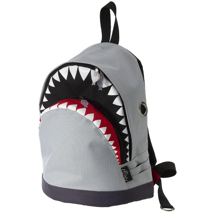 MORN アイテム勢ぞろい CREATIONSのリュック シャーク 人気の定番 バックパック Mサイズ グレー モーンクリエイションズ リュック リュックサック CREATIONS サメ