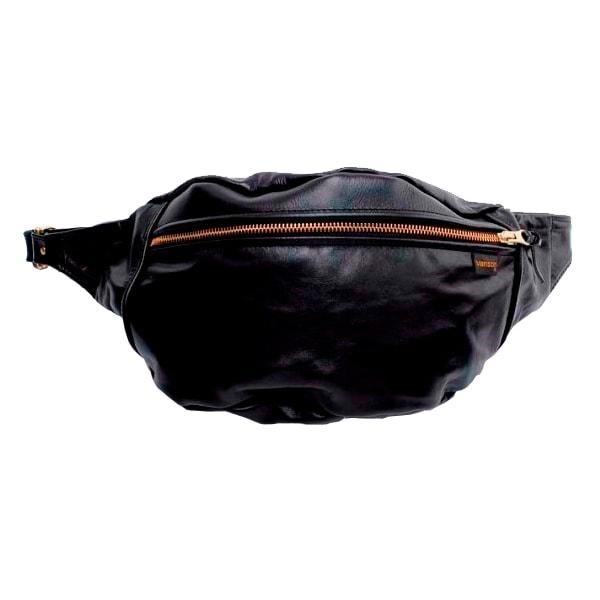 【VANSON】(バンソン) ニューファニーパック (ブラック:BLACK) 【ヴァンソン】 【カバン】 【男女兼用バック】 【ウエストバック】 【ショルダーバック】 【レザーバック】 【バックドロップ別注】 【アメカジ】 【渋谷】 【back drop】 【送料無料】