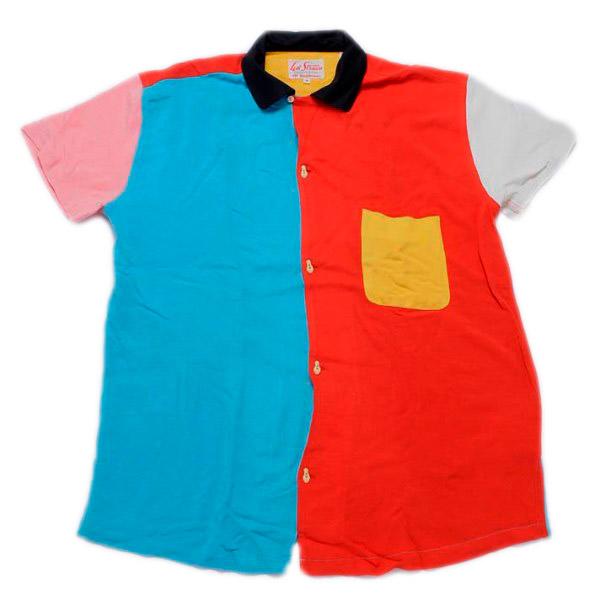 【40%OFF】【LEVIS VINTAGE CLOTHING】(リーバイス ビンテージクロージング) ロケットボウリングシャツ (カラフル) 渋谷 バックドロップ 渋谷の老舗アメカジショップ the back drop