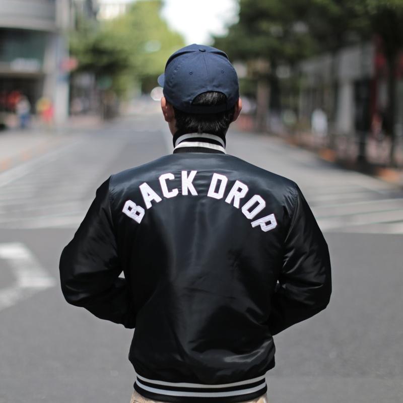【BACKDROP x STARTER】(別注スターター) TEAM JACKET (BLACK:ブラック) チームジャケット スタジャン メンズ アメカジ 渋谷 バックドロップ 老舗アメカジショップ back drop 送料無料