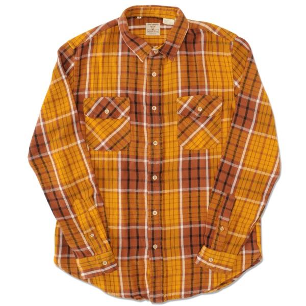 【リーバイス ヴィンテージ クロージング】(LEVI'S VINTAGE CLOTHING) ショートホーン シャツ (イエロー) 【メンズ】【長袖】【黄色】【Levi's】【正規】【渋谷】【バックドロップ】【老舗アメカジショップ】【back drop】【送料無料】