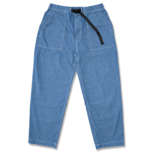 【BACKDROP】(バックドロップ) EASY UTILITY PANTS / イージー ユーティリティ パンツ (インディゴ) 渋谷 バックドロップ 渋谷の老舗アメカジショップ the back drop イージーパンツ シャンブレー 日本製