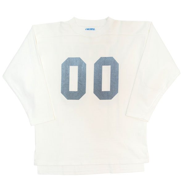 【BACKDROP】(バックドロップ) FOOTBALL JERSEY / フットボール シャツ ジャージ (ホワイト) 渋谷 バックドロップ 渋谷の老舗アメカジショップ the back drop 定番 スポーツ ゲームシャツ