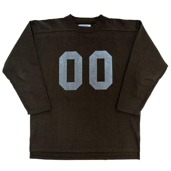 【BACKDROP】(バックドロップ) FOOTBALL JERSEY / フットボール シャツ ジャージ (ブラック) 渋谷 バックドロップ 渋谷の老舗アメカジショップ the back drop 定番 スポーツ ゲームシャツ